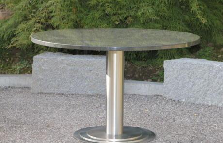 Edelstahltisch Granit Metallbau Emmental