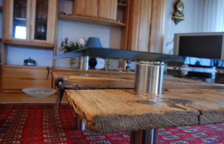 Salontisch Holz Metallbau Emmental